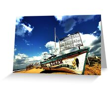 Tropical Beach Bar Greeting Card