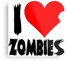 I Heart Zombies Metal Print