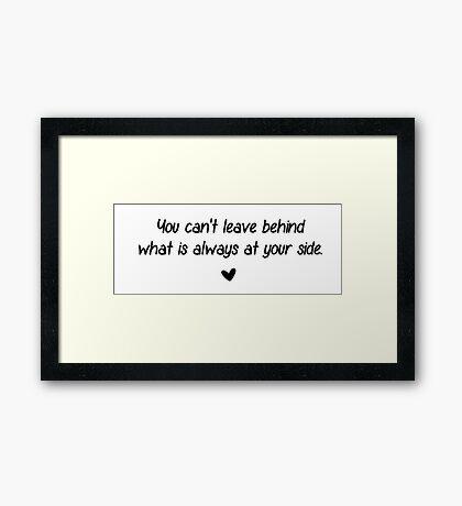 At your side Framed Print