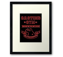 Gaston's Gym Red Framed Print