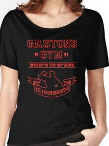 Gaston's Gym Red Women's Relaxed Fit T-Shirt