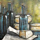 Wine Bottle Still life by Pamela Plante