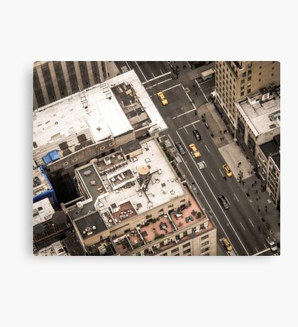 Vintage photograph of the streets New York City Canvas Print