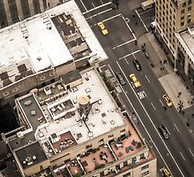 Vintage photograph of the streets New York City by jaysanstudio