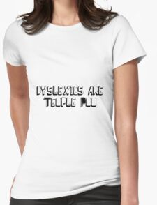 Dyslexic White Tee Womens Fitted T-Shirt