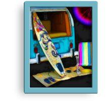 Beach Bumb Surfing  Canvas Print