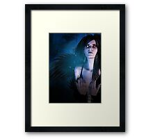 Dark Angel in the Forest 4 Framed Print