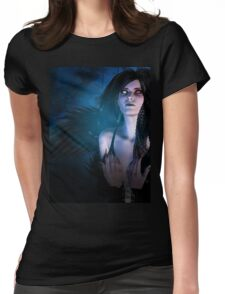 Dark Angel in the Forest 4 Womens Fitted T-Shirt