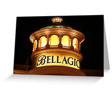 Bellagio at Night Greeting Card