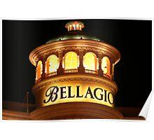 Bellagio at Night Poster