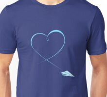 Paper Airplane Heart Unisex T-Shirt