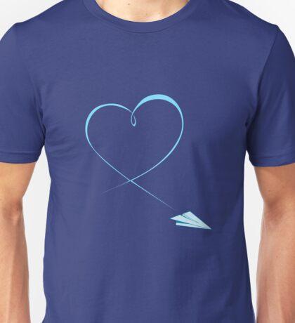 Paper Airplane Heart Unisex T-Shirt