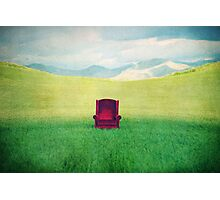 Red Chair Photographic Print