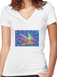 Earth Lover Women's Fitted V-Neck T-Shirt