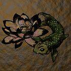Koi and Lotus by mobii