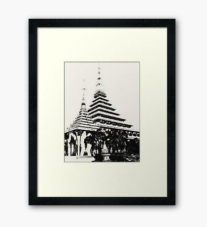 Stupa in Khon Kaen, Thailand Framed Print
