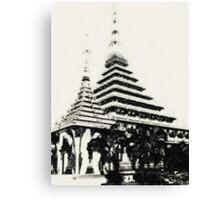 Stupa in Khon Kaen, Thailand Canvas Print