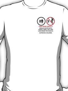For Your Safety - No Dancing Warning (Stacked) T-Shirt