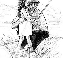 Fishing with Grandpa by arstone