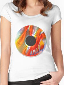 Vintage Turntable Women's Fitted Scoop T-Shirt