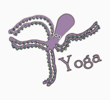 Octopus doing Yoga - Cosmic Dancer T-Shirt
