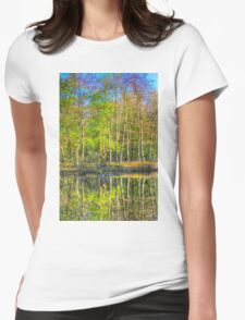 Reflections From The Pond Womens Fitted T-Shirt