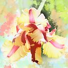 Water colour Parrot tulip by walstraasart