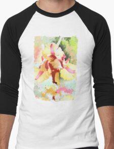Water colour Parrot tulip Men's Baseball ¾ T-Shirt
