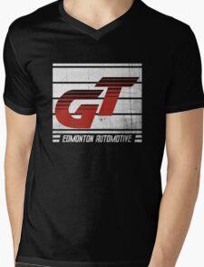 Edmonton Auto - Red & White Mens V-Neck T-Shirt