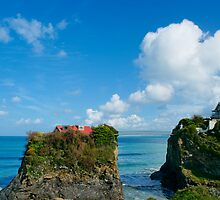 Two houses on the cliff by Francesco Carucci