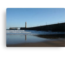 Reflections in Whitby Canvas Print