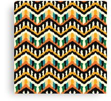 Colorful Zigzag Ethnic Pattern Canvas Print