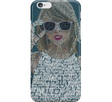 Blue Taylor Swift Typography iPhone Case/Skin