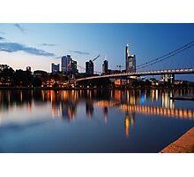 Frankfurt business district Photographic Print