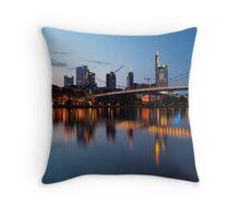 Frankfurt business district Throw Pillow
