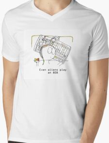 An Alien and his Drum Machine Mens V-Neck T-Shirt