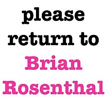 If found please return to Brian Rosenthal by danishstarkid