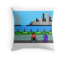 Jason Takes Manhattan Throw Pillow