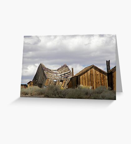"""""""Goodbye God! We are going to Bodie.""""  Greeting Card"""