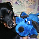Blue Puppy by Karen K Smith