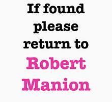 If found please return to Robert Manion Men's Baseball ¾ T-Shirt