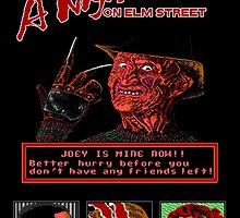A Nightmare on Elm Street Pixel Poster by boxsmasher