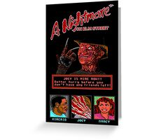 A Nightmare on Elm Street Pixel Poster Greeting Card