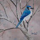 Winter Jay ~ oil painting by Barbara Applegate