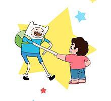 Finn meets Steven! by Camacaileon