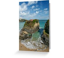 House on the cliff Greeting Card