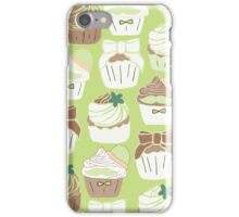 Matcha Green Tea Cupcakes iPhone Case/Skin