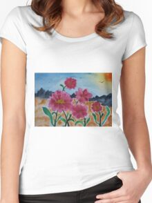The Flower Family Women's Fitted Scoop T-Shirt