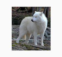 Arctic Wolf on the alert. Unisex T-Shirt