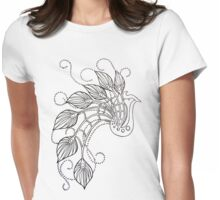 Jazzy Peacock Womens Fitted T-Shirt